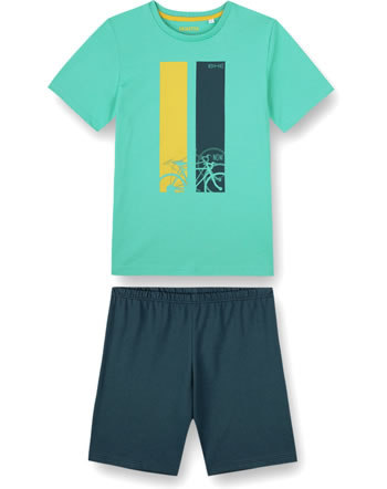 Sanetta Boys Pyjama short Bike seagras 245026-4829