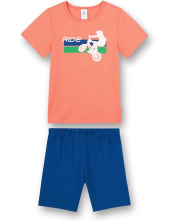 Sanetta Boys Pyjama short BMX orange county 232638-2433