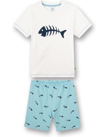 Sanetta Boys Pyjama short Fish white pebble 232593-1948
