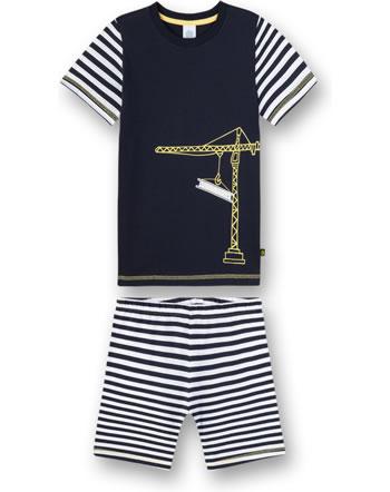 Sanetta Jungen Pyjama/Schlafanzug kurz blue navy 232435-50151