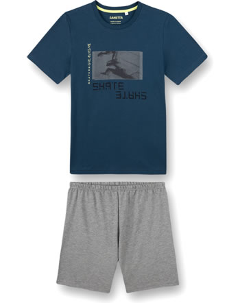 Sanetta Jungen Pyjama/Schlafanzug kurz blue teal 245002-50333
