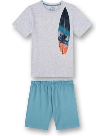 Sanetta Boys Pyjama short grey melange 245018-1646