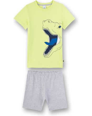 Sanetta Jungen Pyjama/Schlafanzug kurz new lime 232441-2481