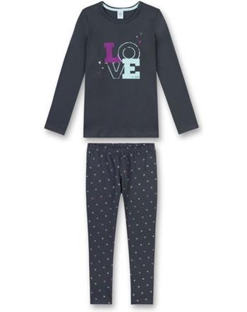 Sanetta Mädchen Pyjama/Schlafanzug lang grey 244388-1989