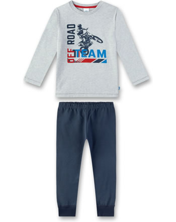 Sanetta Jungen Pyjama/Schlafanzug lang grey melange 232307-1737