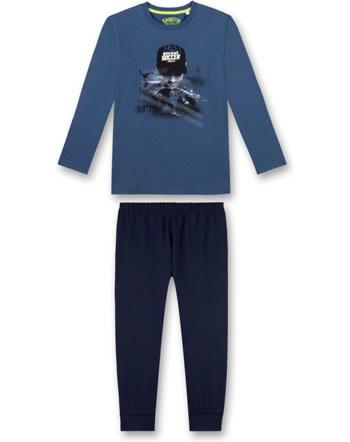 Sanetta Jungen Pyjama/Schlafanzug lang ink blue 244454-50096