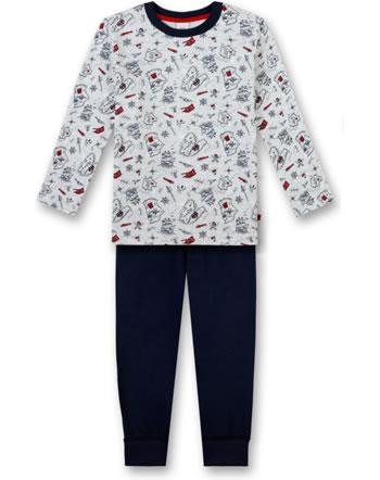 Sanetta Jungen Pyjama/Schlafanzug lang sand melange 232267-1952