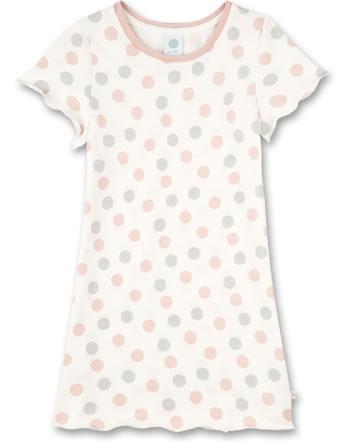 Sanetta Girls Nightdress long sleeve white pebble 232569-1948