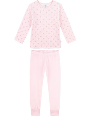 Sanetta Girls Pyjama long STARS sorbet 232489-3084
