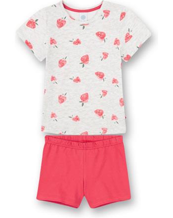 Sanetta Pyjama à manches courtes Strawberries light grey 232621-1988