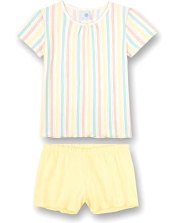Sanetta Mädchen Pyjama/Schlafanzug kurz Japanese Summer lemon 245029-2094