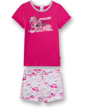 Sanetta Mädchen Pyjama/Schlafanzug kurz pretty pink 232408-3845