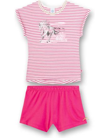 Sanetta Mädchen Pyjama/Schlafanzug kurz pretty pink 232414-3845