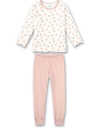 Sanetta Girls Pyjama long white pebble 232571-1948