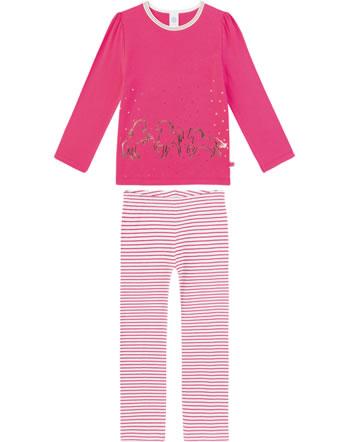 Sanetta Mädchen Pyjama/Schlafanzug Langarm PFERDE pretty pink 232412-3845