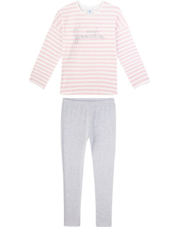 Sanetta Mädchen Pyjama/Schlafanzug Langarm wild rose 244642-3526