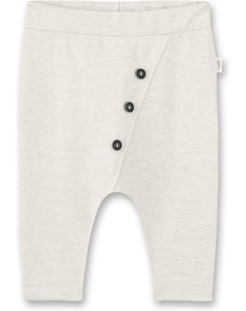 Sanetta Pure Summery baby pants with buttons beige melange 10259-1860 GOTS