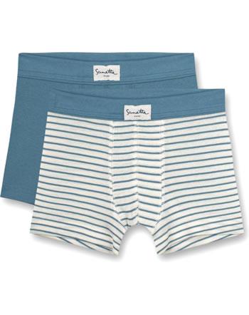 Sanetta Pure Doppelpack Set Jungen Shorts faded blue 13120-50329