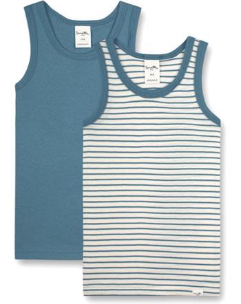 Sanetta Pure Lot de deux sous-vêtements pour garçons faded blue 13123-50329 GOTS