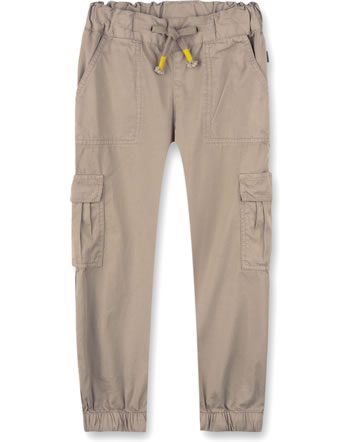 Sanetta Pure Cargo pants for boys pale brown 10275-18032 GOTS