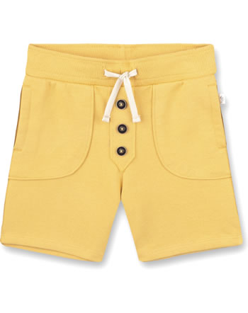 Sanetta Pure Sweat shorts with a tie ochre 10284-22036 GOTS
