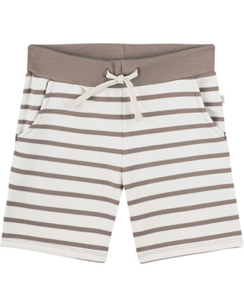 Sanetta Pure Sweat shorts with a tie pale brown 10270-18032 GOTS