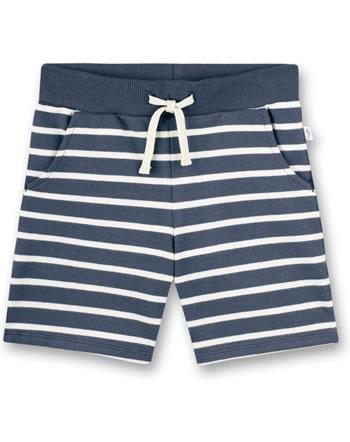 Sanetta Pure Sweat short boys striped ombre blue 10270-50277 GOTS