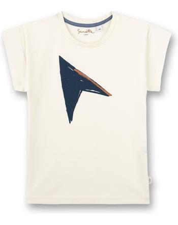 Sanetta Pure T-Shirt boys short sleeve white whisper 10262-18010 GOTS