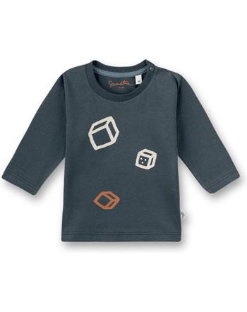 Sanetta Pure t-shirt long sleeve dice pattern ombre blue 10288-50277 GOTS