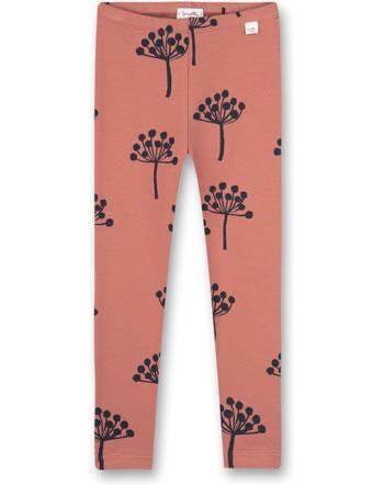 Sanetta Pure Girls leggings with flowers motif terra 10219-38119