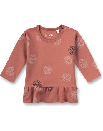 Sanetta Pure Mädchen Shirt Langarm Blumen-Alloverprint terra 10239-38119 GOTS