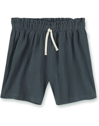 Sanetta Pure Girls shorts with a tie seal grey 10344-1918 GOTS