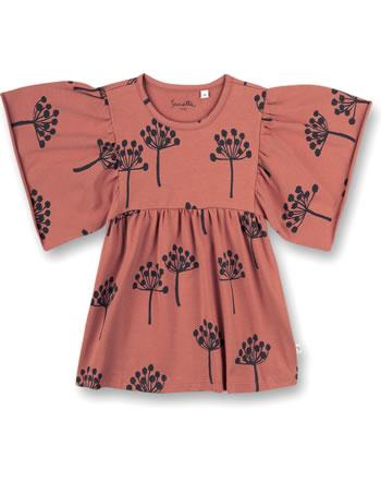 Sanetta Pure Mädchen T-Shirt mit kurzen Volant-Ärmeln terra 10209-38119 GOTS