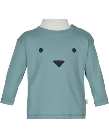 Sanetta Pure Shirt Langarm BÄRENGESICHT blue ice 10091-5422 GOTS