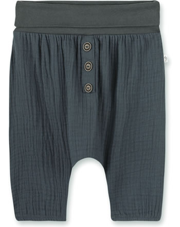 Sanetta Pure Summer pants with waistband seal grey 10326-1918 GOTS