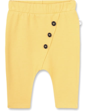 Sanetta Pure Summery baby pants with buttons ochre 10244-22036 GOTS