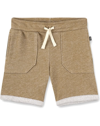 Sanetta Pure Sweat shorts with a tie mustard 10334-22041 GOTS