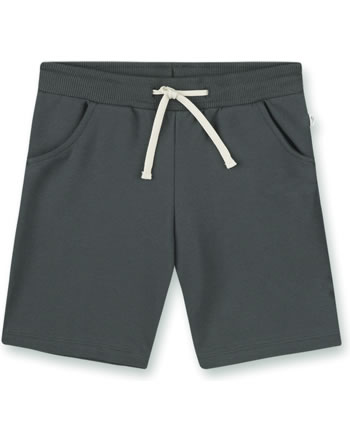 Sanetta Pure Sweat shorts with a tie seal grey 10335-1918 GOTS