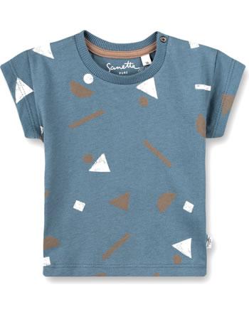 Sanetta Pure T-Shirt short sleeve Allover-Print faded blue 10295-50329 GOTS