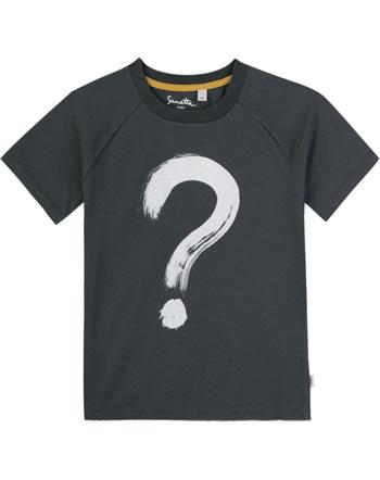 Sanetta Pure T-Shirt Kurzarm FRAGEZEICHEN seal grey 10050-1918 GOTS