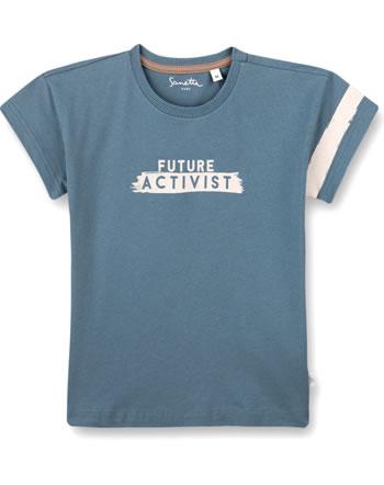 Sanetta Pure T-Shirt Kurzarm FUTURE ACTIVIST faded blue 10276-50329 GOTS