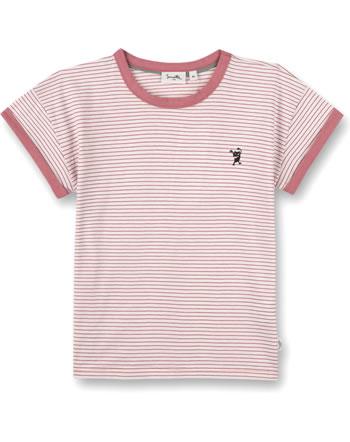 Sanetta Pure T-Shirt short sleeve Monster striped bloomy rose 10317-38133 GOTS