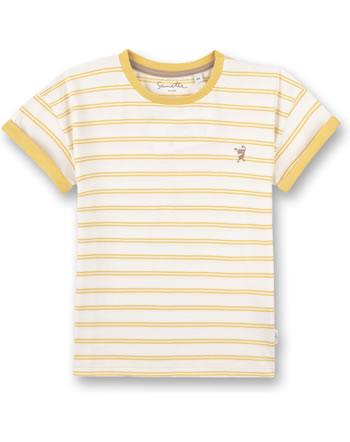 Sanetta Pure T-Shirt short sleeve Monster striped ochre 10202-22036 GOTS