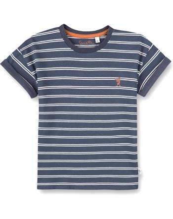 Sanetta Pure T-Shirt short sleeve Monster striped ombre blue 10202-50277 GOTS