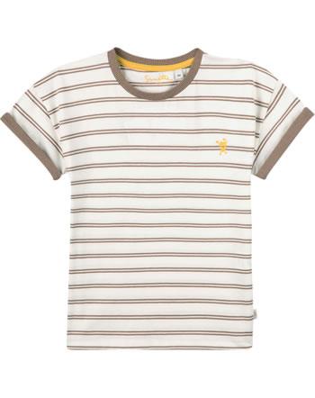 Sanetta Pure T-Shirt short sleeve Monster striped pale brown 10202-18032 GOTS