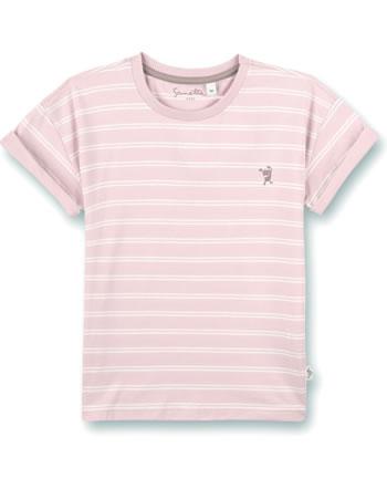 Sanetta Pure T-Shirt short sleeve Monster striped rose cloud 10202-38126 GOTS