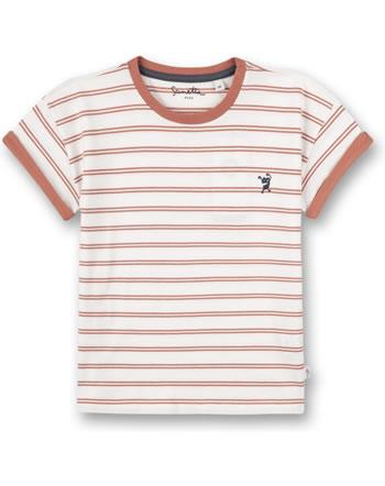Sanetta Pure T-Shirt Kurzarm Monster gestreift terra 10202-38119 GOTS