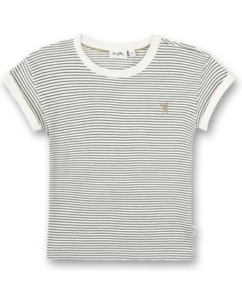 Sanetta Pure T-Shirt short sleeve Monster striped white whisper 10317-18010 GOTS