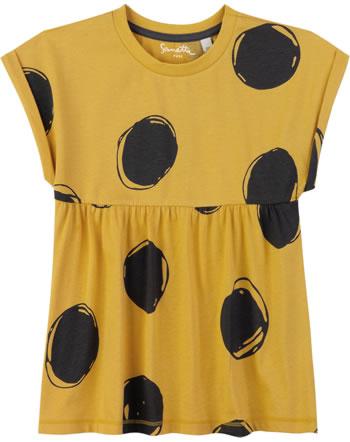 Sanetta Pure T-Shirt Kurzarm PUNKTE yellow 10024-2475 GOTS
