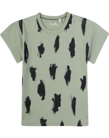 Sanetta Pure T-Shirt Kurzarm STREIFEN powder green 10005-40000 GOTS